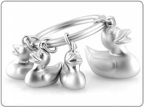 Breloczek Metal Duck Family