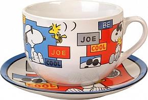 SNOOPY JUMBO CUP + Talerzyk